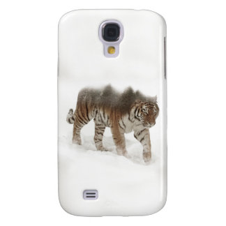 Coque Galaxy S4 Tigre-Tigre-double exposition-faune sibérienne