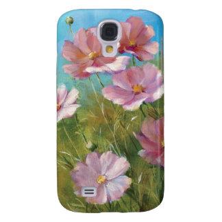 Coque Galaxy S4 Un jardin floral rose