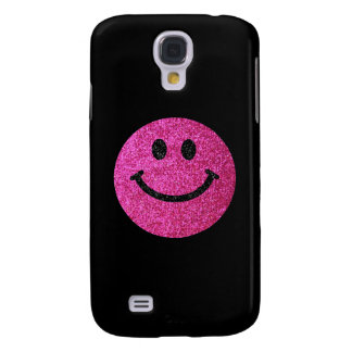 Coque Galaxy S4 Visage de smiley de parties scintillantes de faux