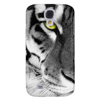 Coque Galaxy S4 Visage de tigre - tigre blanc - tigre de yeux -