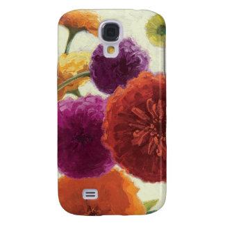 Coque Galaxy S4 Zinnias purs de palette