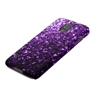 Coque Galaxy S5 Belles étincelles pourpres foncées de parties