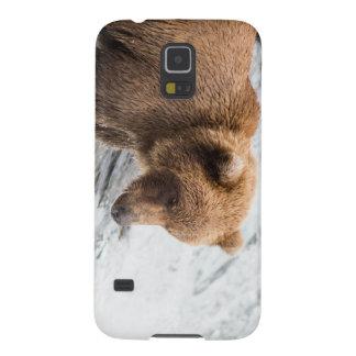 """Coque Galaxy S5 Cas de téléphone de """"Fisher de lèvre"""" d'ours"""