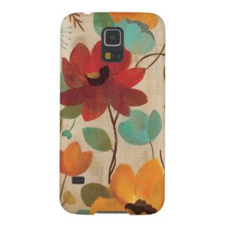 Coque Galaxy S5 Fleurs et bourgeons colorés