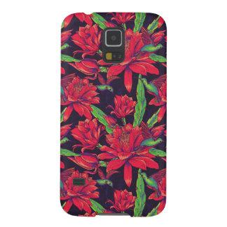Coque Galaxy S5 Fleurs et colibris