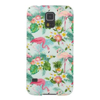 Coque Galaxy S5 Fleurs tropicales vintages et oiseaux