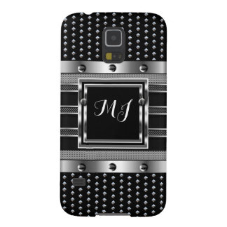 Coque Galaxy S5 Hommes de chrome de regard en métal de regard de