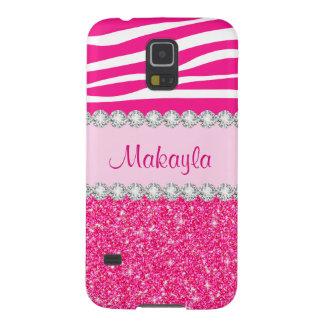 Coque Galaxy S5 Le scintillement rose fait sur commande miroite