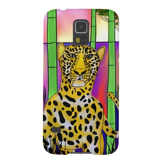 Coque Galaxy S5 Leopard on savannah
