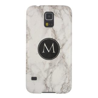 Coque Galaxy S5 Monogramme de marbre élégant de mode de conception