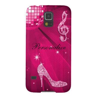 Coque Galaxy S5 Note scintillante de musique de roses indien et