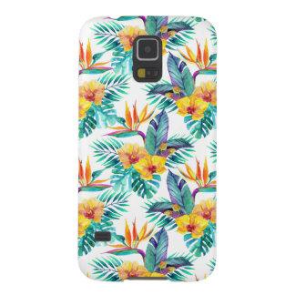 Coque Galaxy S5 Oiseau du paradis et du motif d'orchidée