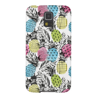 Coque Galaxy S5 Paumes de grunge d'ananas