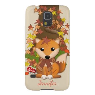 Coque Galaxy S5 Renard et hibou mignons en automne
