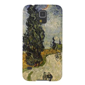 Coque Galaxy S5 Route de Vincent van Gogh | avec des cyprès, 1890