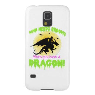 Coque Galaxy S5 T-shirt de dragon de sorcière de Halloween