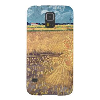 Coque Galaxy S5 Wheatfield de Vincent van Gogh | avec des gerbes,