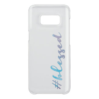 Coque Get Uncommon Samsung Galaxy S8 #Blessed, manuscrit de Handlettering d'aquarelle