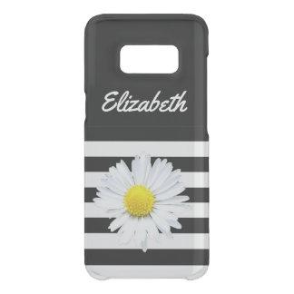 Coque Get Uncommon Samsung Galaxy S8 Caisse barrée par noir floral de nom de marguerite
