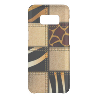 Coque Get Uncommon Samsung Galaxy S8 Collage de jeans de poster de animal de girafe de