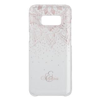 Coque Get Uncommon Samsung Galaxy S8 Conception rose élégante de confettis de mandala