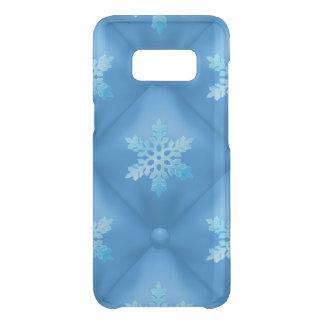 Coque Get Uncommon Samsung Galaxy S8 Motif de flocon de neige de Noël de bleu royal