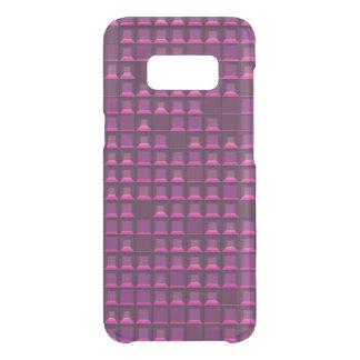 Coque Get Uncommon Samsung Galaxy S8 Pyramide pourpre abstraite 3D-pattern de torse nu