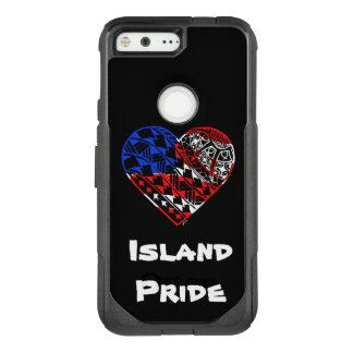 Coque Google Pixel Par OtterBox Commuter Fierté Etats-Unis d'île de tatouage de coeur