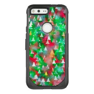 Coque Google Pixel Par OtterBox Commuter Motif d'aquarelle d'arbre de Noël