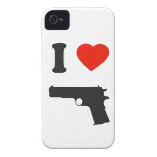 Coque i-phone i love gun