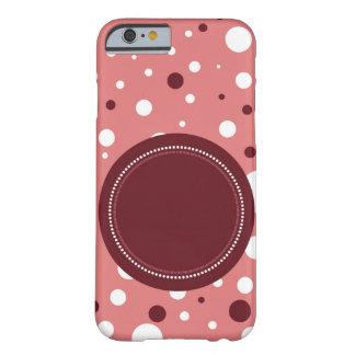 coque imprimée rose blanc et mauve personnalisable coque iPhone 6 barely there