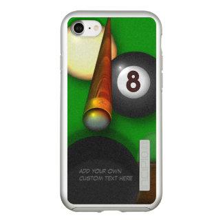 Coque Incipio DualPro Shine iPhone 8/7 Piscine et billards de huit boules personnalisés