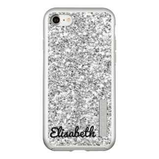 Coque Incipio DualPro Shine iPhone 8/7 Scintillement imprimé par argent chaud à la mode