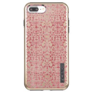 Coque Incipio DualPro Shine iPhone 8 Plus/7 Plus Damassé florale de rose rose