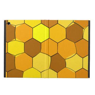 Coque ipad abstrait de nid d'abeilles