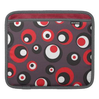 Coque ipad abstrait gris et par rouge pointillé