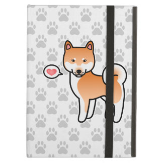 Coque iPad Air Amour rouge de Shiba Inu de bande dessinée
