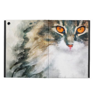 Coque iPad Air art d'aquarelle de ragondin du Maine