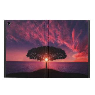Coque iPad Air caisse d'arbre, de soleil et d'air d'iPad de vue