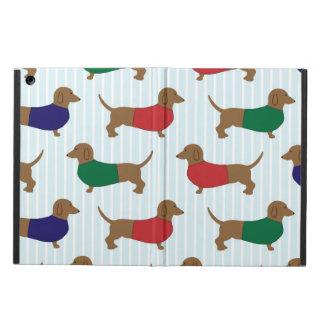 Coque iPad Air Chiens colorés drôles de teckel, caisse d'air