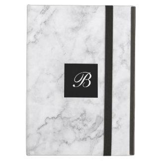 Coque iPad Air Conception de marbre moderne de monogramme