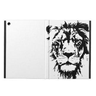 Coque iPad Air Couverture avec la copie noire et blanche Lion