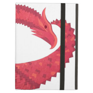 Coque iPad Air Dragon rouge de coeur sur le blanc