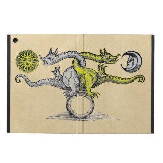 Coque iPad Air Dragons d'or et d'argent