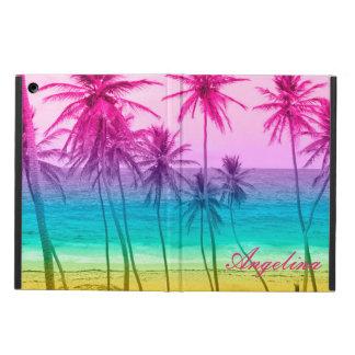 Coque iPad Air filtre tropical d'arc-en-ciel de plage