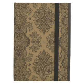 Coque iPad Air Floral vintage de dentelle en Brown