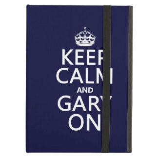 Coque iPad Air Gardez le calme et Gary sur (toute couleur)
