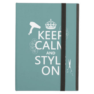 Coque iPad Air Gardez le calme et le style sur (toute couleur