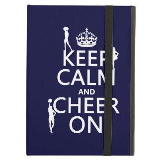 Coque iPad Air Gardez le calme et l'encouragez sur (majorettes)