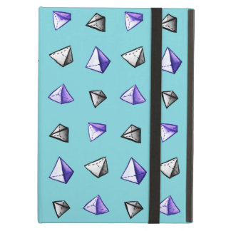 Coque iPad Air Geek géométrique de motif de pyramide d'aquarelle